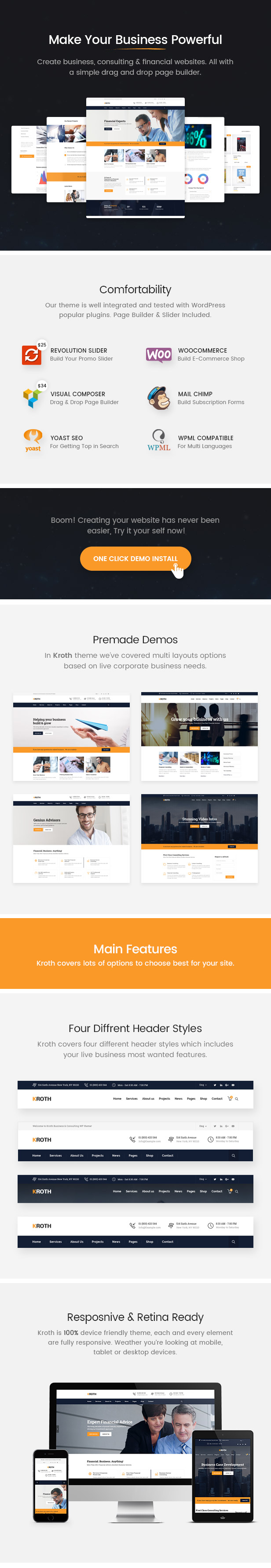 Kroth Theme Main Features
