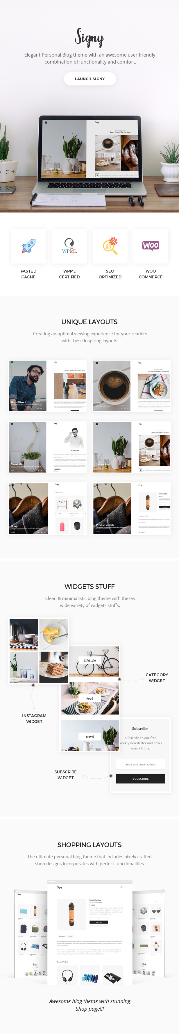 Signy Theme Features