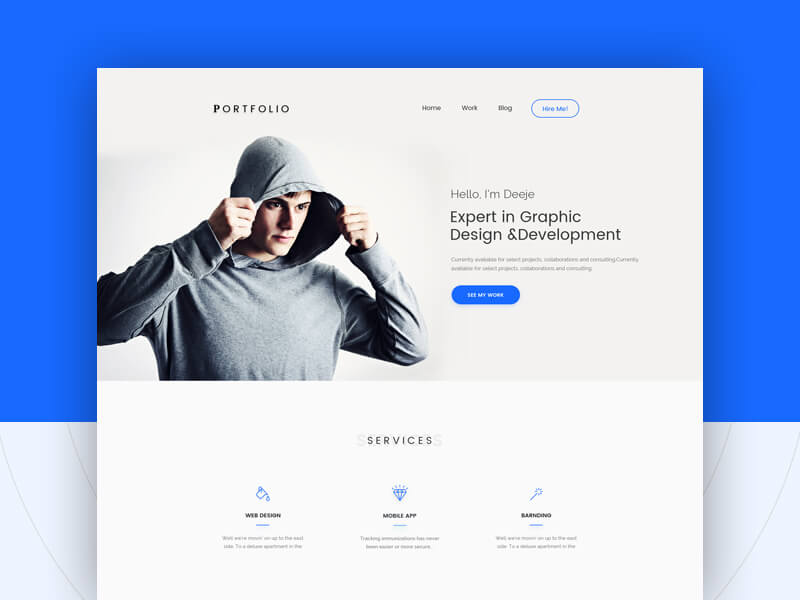portfolio website template victorthemes
