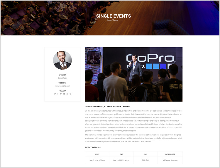 Livesay WordPress Event Theme Effective Tool To Make Event