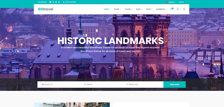 Tourism Wordpress Theme Top 08 Trending 2019