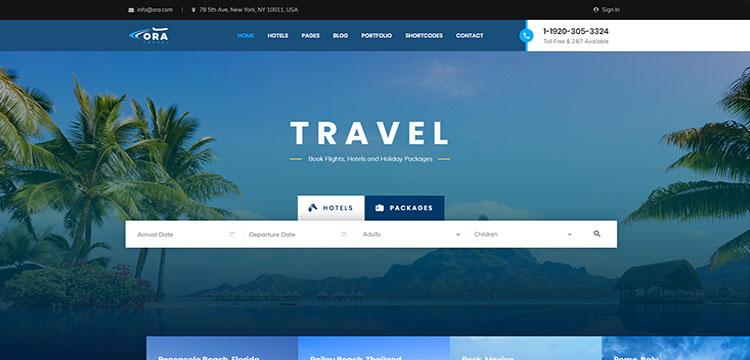 Tourism WordPress Theme-Top 08 -Trending-2019